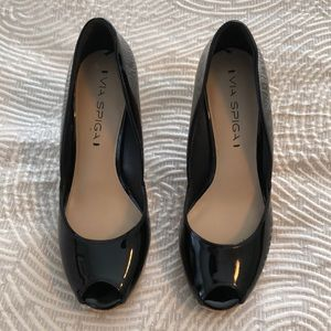 Women's Via Spiga Open Toe Heels Size 6